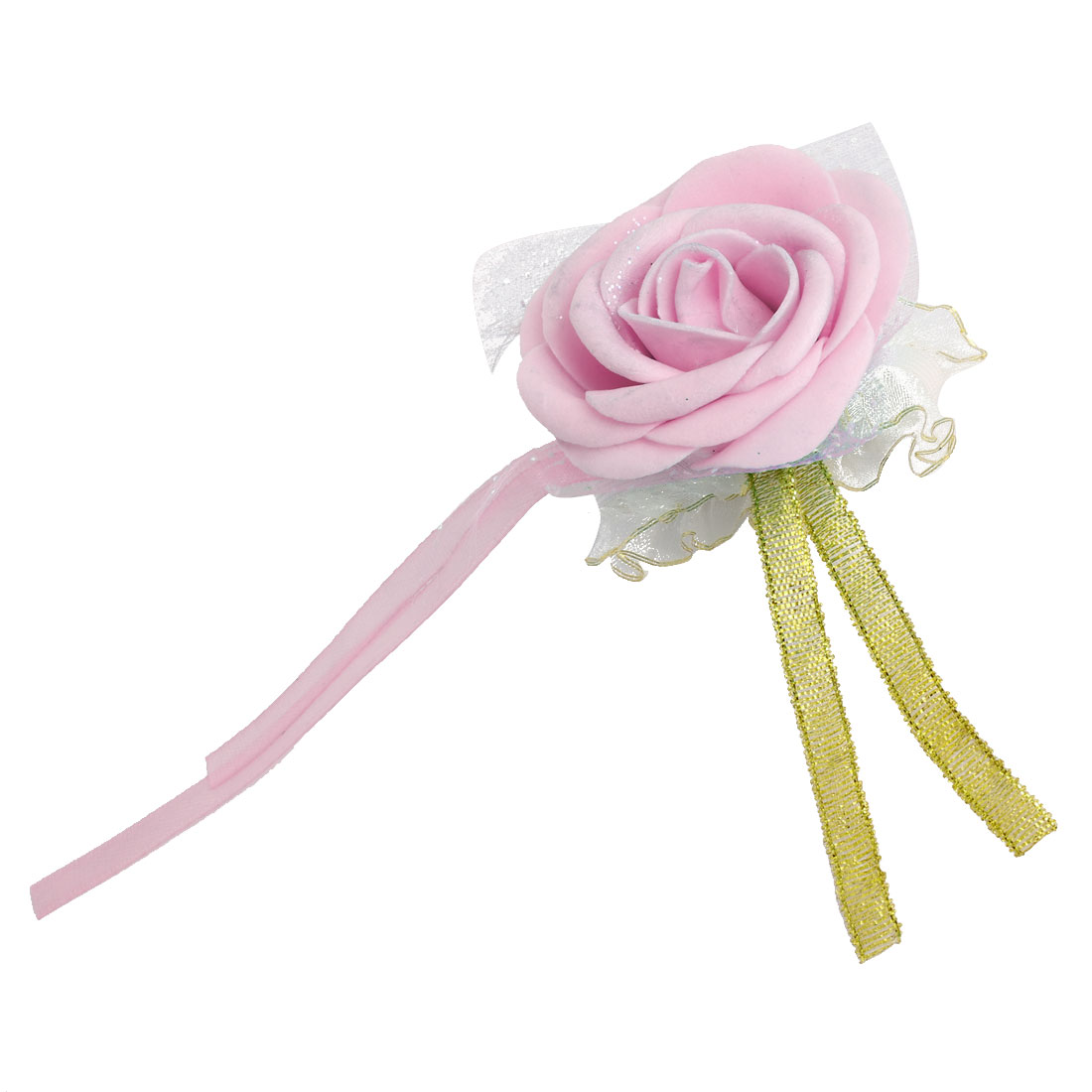 Wedding Party Foam Rose Shaped Bridesmaid Hand Decoration Artificial Wrist Flower Light Pink