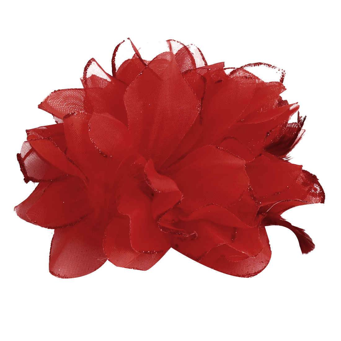 Wedding Party Fascinator Girl Bridesmaid Hand Decoration Artificial Wrist Flower Red