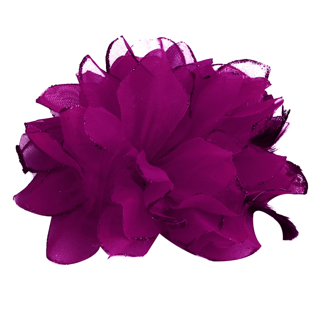 Wedding Party Fascinator Girl Bridesmaid Hand Decoration Artificial Wrist Flower Fuchsia