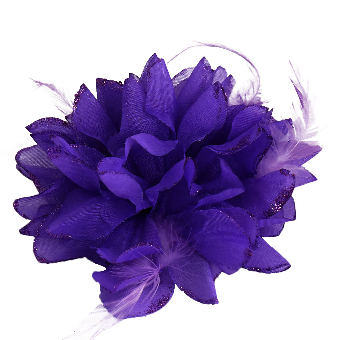 Wedding Party Fascinator Girl Bridesmaid Hand Decoration Artificial Wrist Flower Purple