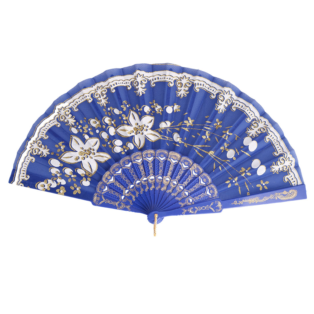 Family Hollow Out Frame Vintage Style Hand-crafted Shining Folding Hand Fan