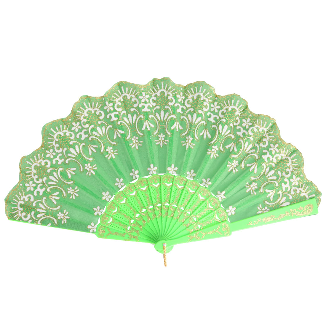 Household Hollow Out Frame Retro Style Craft Decor Shining Folding Hand Fan