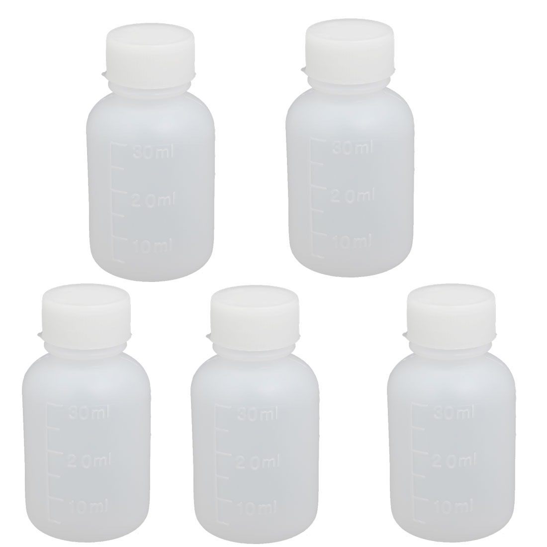 60ml 14mm Diameter PE Plastic Round Narrow Mouth Bottle Clear 5pcs