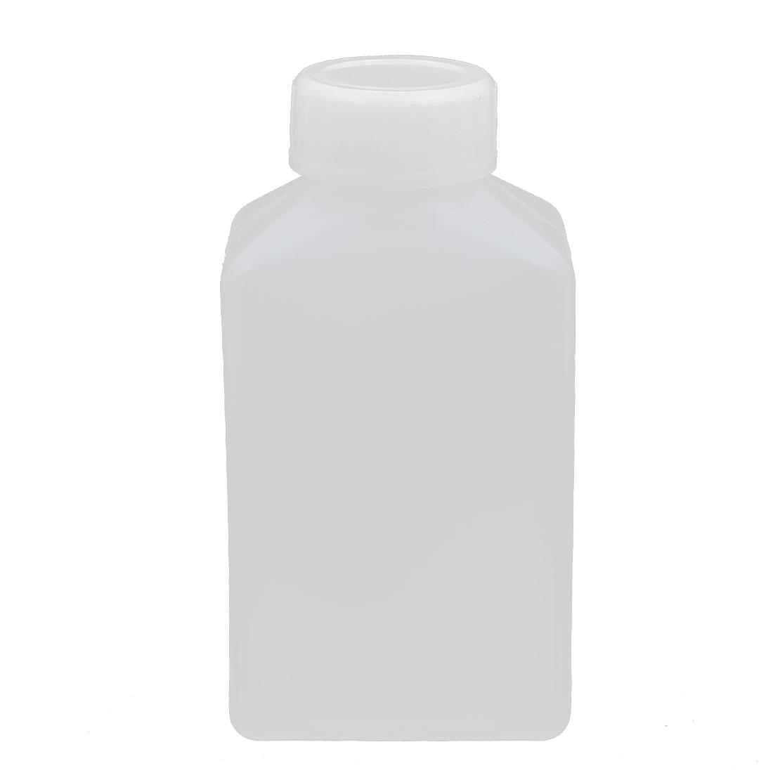 100ml HDPE Plastic Bottle Translucent DIY Square Bottle w Cover