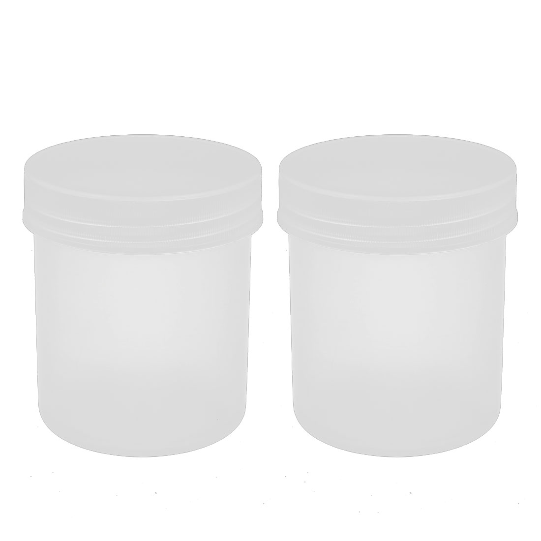 2pcs Lab 100mL PP Graduated Beaker Measuring Cup Translucent w Clear Cover