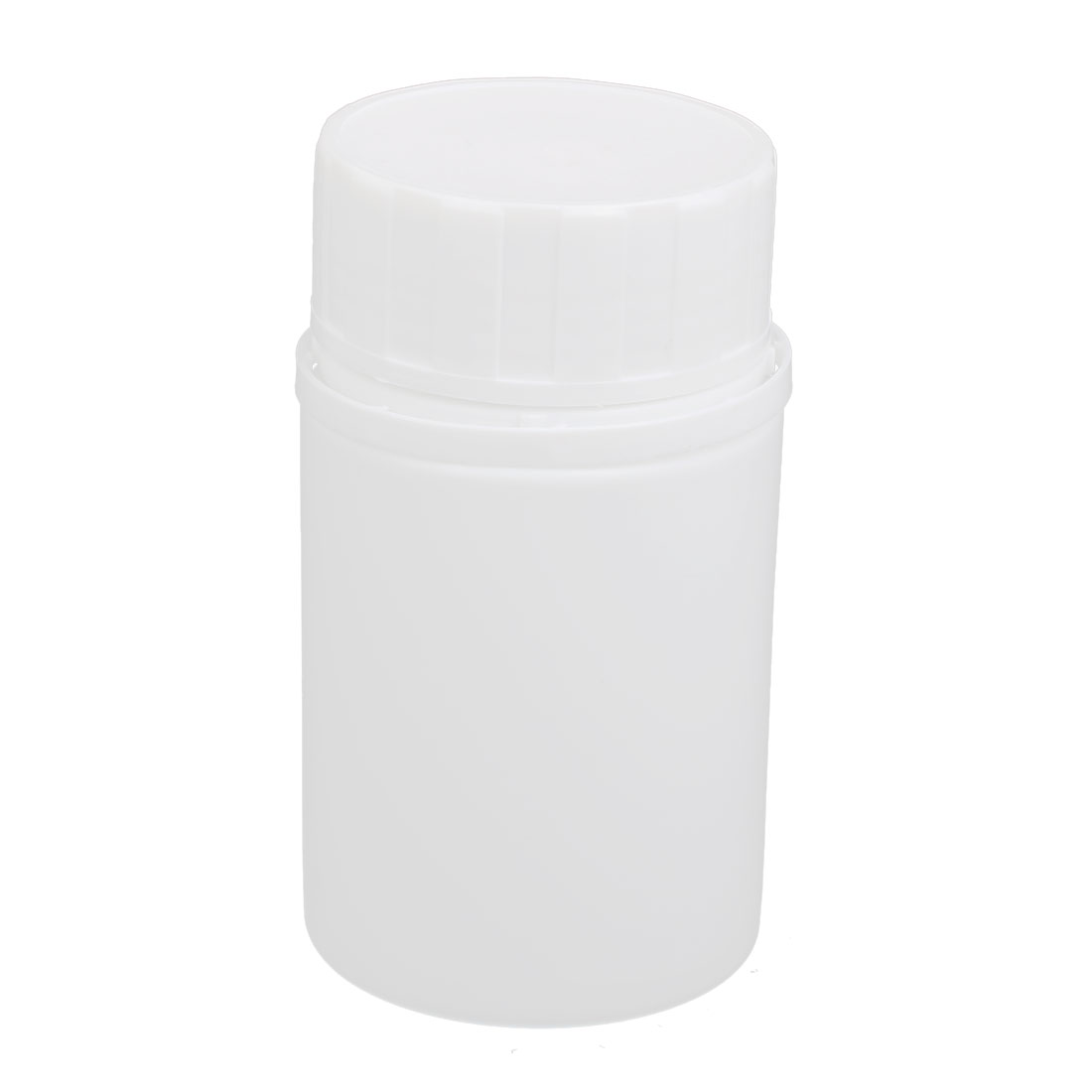 47mm Dia 113mm Height 250ml HDPE Plastic Round Wide Mouth Bottle White