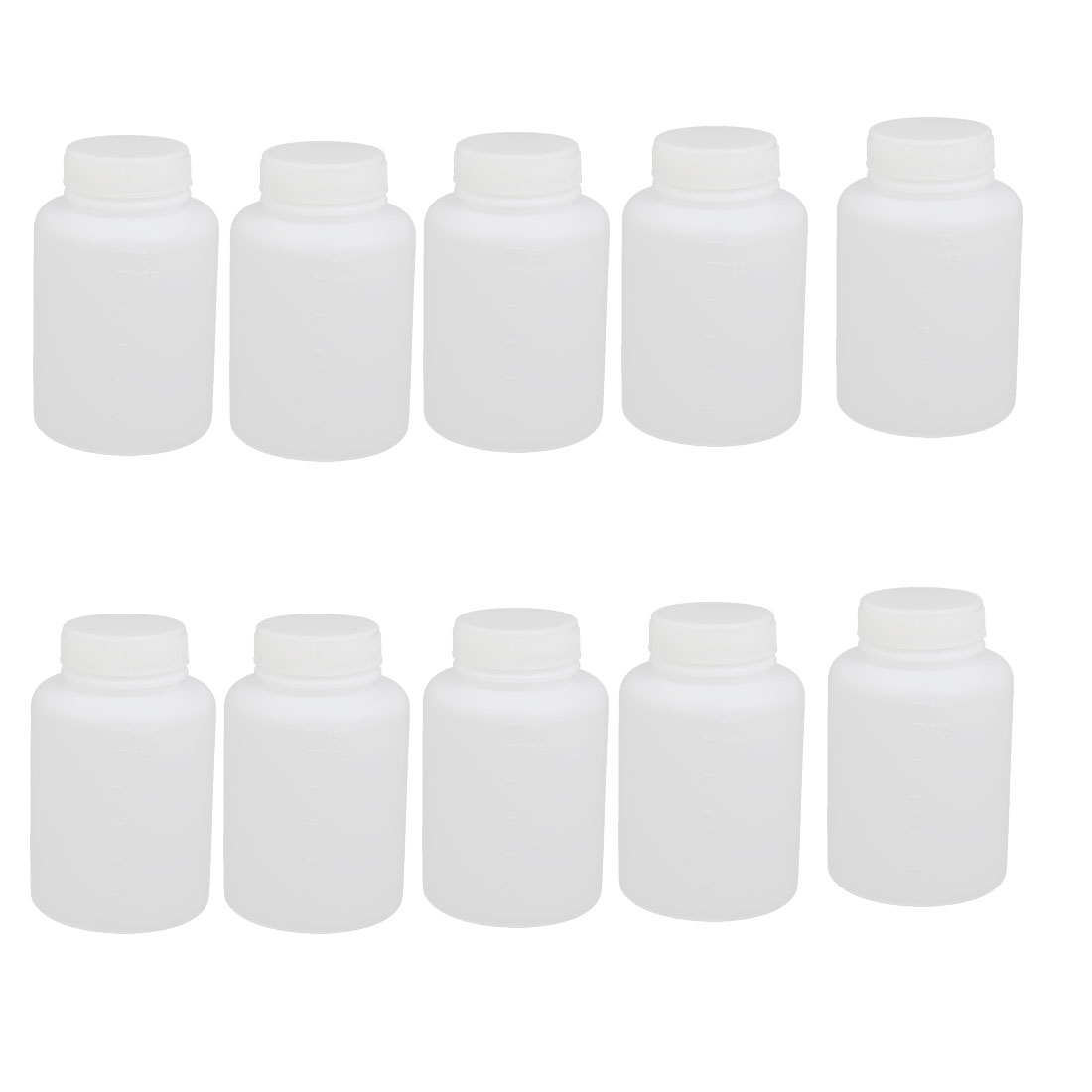 150ml 29mm Diameter PP Plastic Round Shaped Narrow Mouth Bottle Clear 10pcs