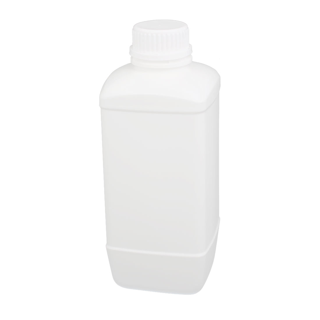 1000ml 28mm Dia Mouth HDPE Plastic Oblong Shaped Laboratory Bottle White