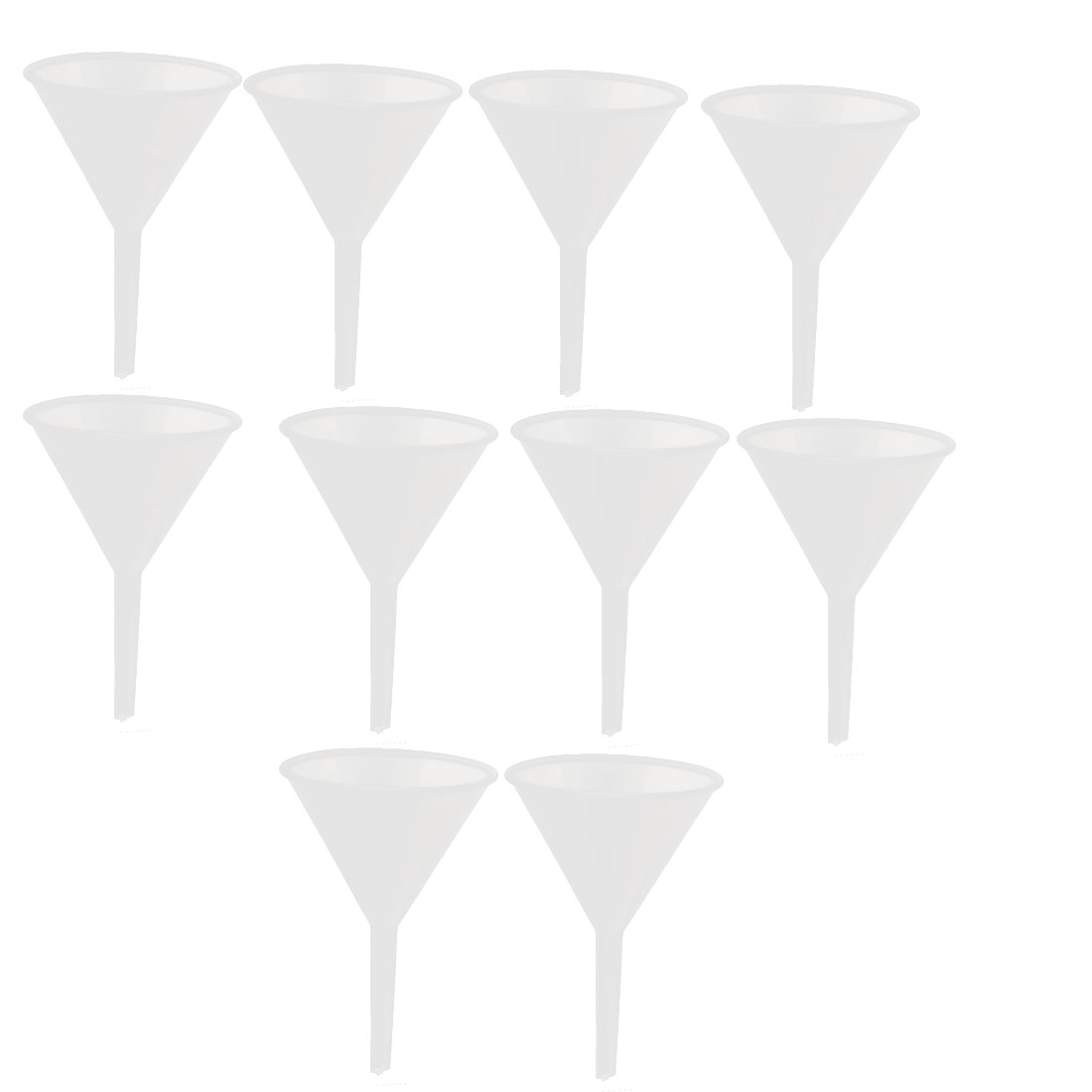 90ml PP Liquid Water Oil Filter Funnel Filling Tool Clear 10pcs