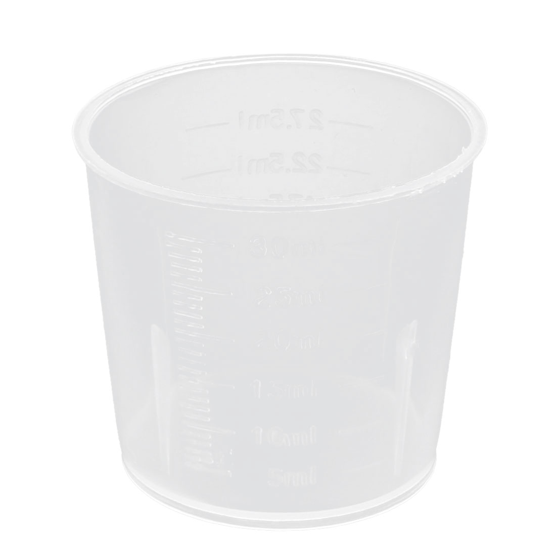 30mL Laboratory Plastic PP Liquid Container Measuring Cup Beaker Thicken Clear