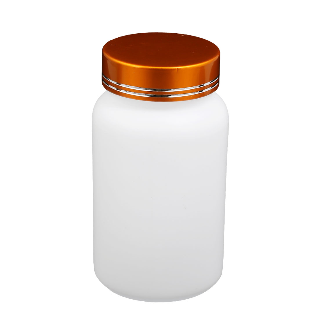 200mL Capacity Empty Plastic Container PET Bottle w Gold Tone Metal Cap