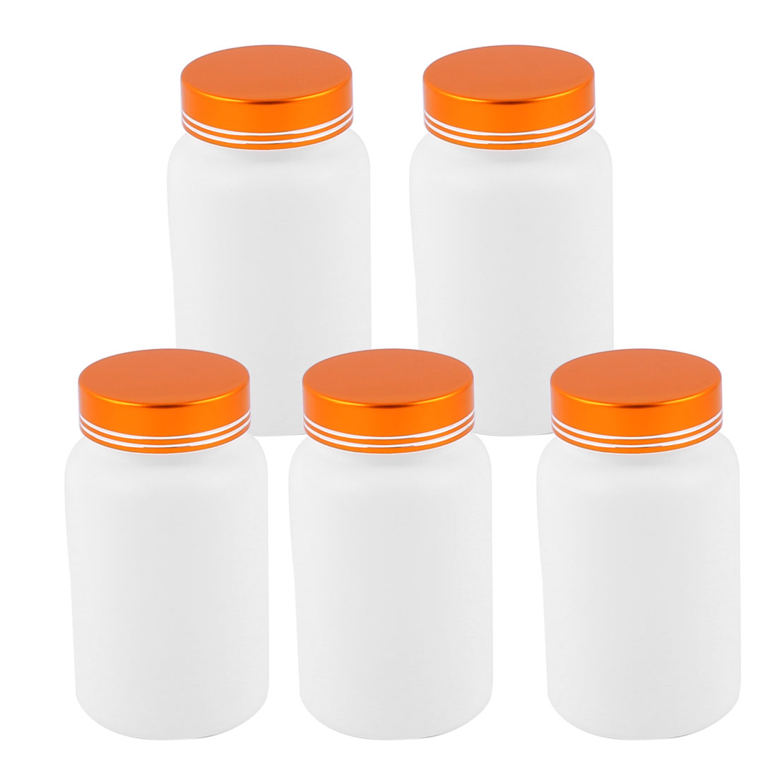 5Pcs 200cc Empty Plastic Bottles Healthy Products Bottles Glod Tone Lid