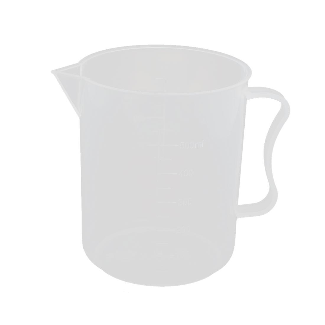 500mL Laboratory Spout Measuring Cup Beaker Clear w Handle