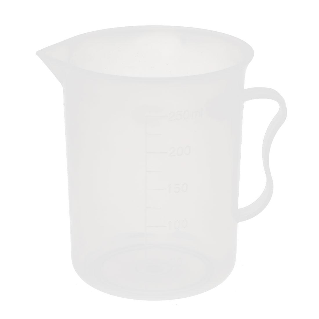 250mL Laboratory Spout Measuring Cup Beaker Clear w Handle