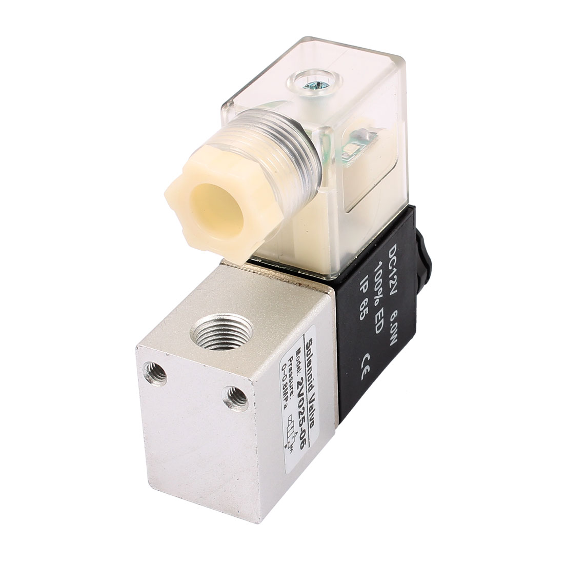 "2V025-06 DC 12V NC 2 Position 2 Way PT1/8"" Thread Neutral Air Selector Solenoid Valve"