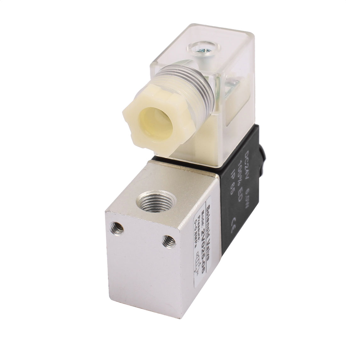 DC 24V Dual Position Two Way Neutral Electric Pneumatic Solenoid Valve 2V025-06