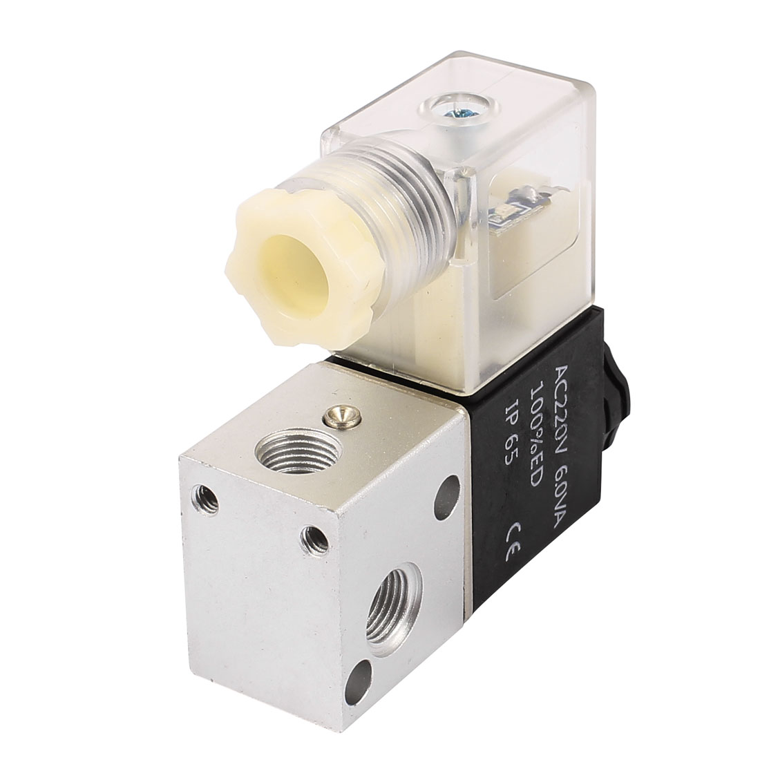3V1-06 AC 220V NC 2 Position 3 Way RC1/8 Thread Neutral Air Selector Solenoid Valve