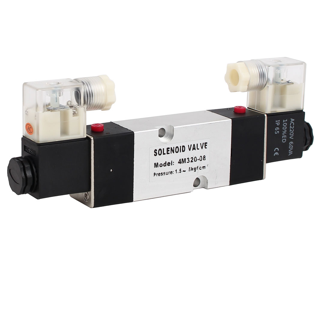 AC 220V 2 Position 5 Way Neutral Electric Solenoid Air Control Valve 4M320-08