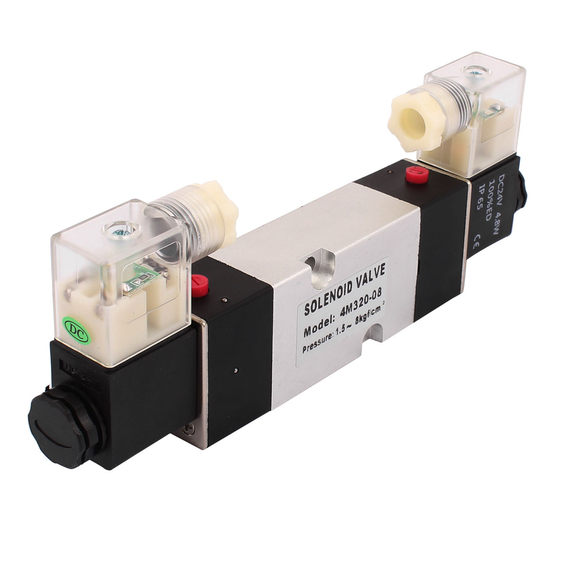 4M320-08 DC 24V 2 Position 5 Way RC1/4 Neutral Air Selector Solenoid Valve