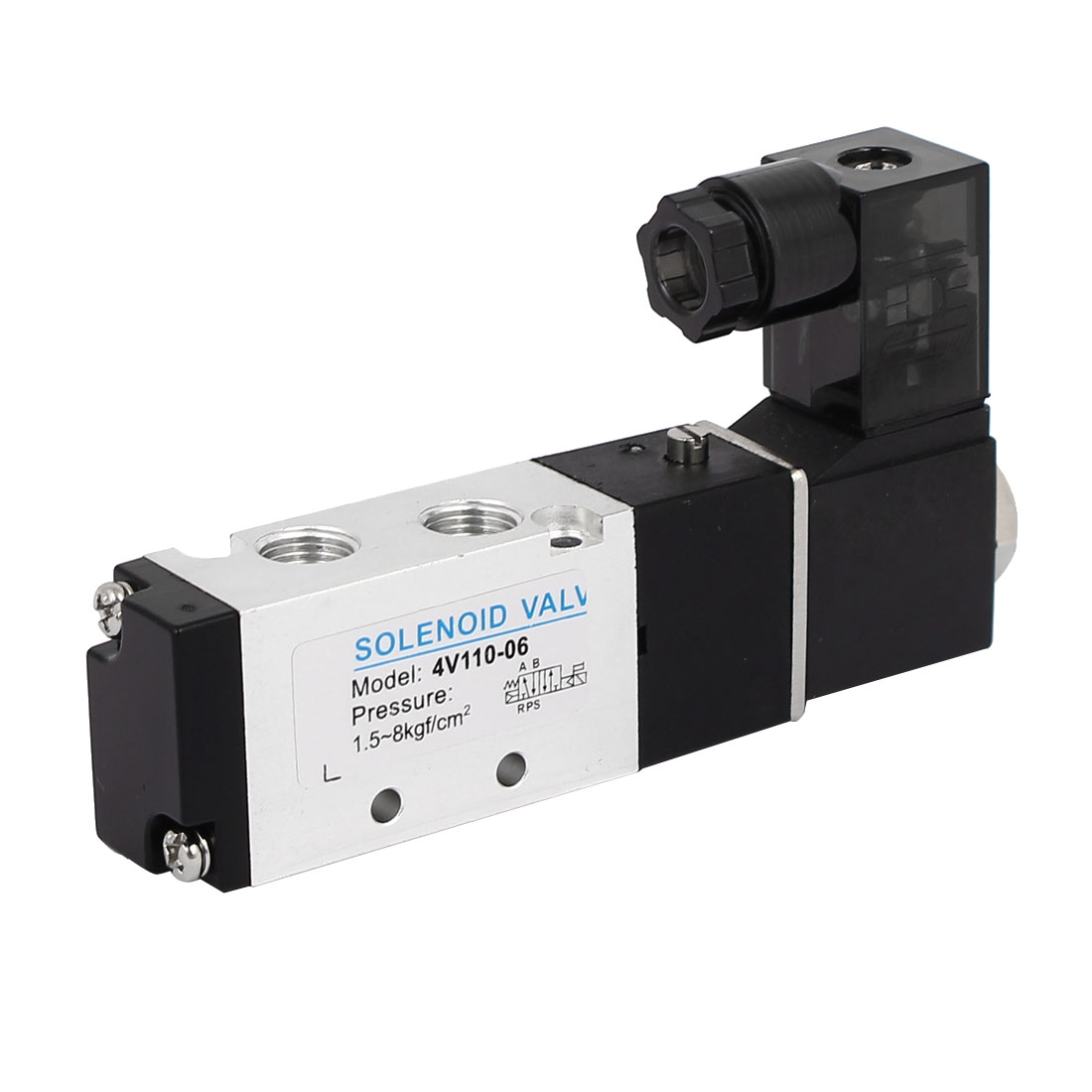 AC 220V 2 Position 5 Way Neutral Pneumatic Air Control Solenoid Valve 4V110-06