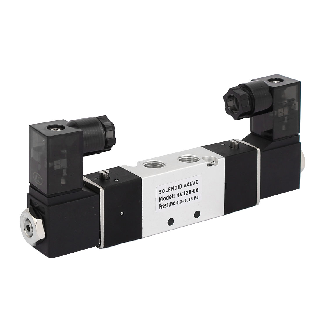 AC 220V 2 Position 5 Way Neutral Pneumatic Air Control Solenoid Valve 4V120-06