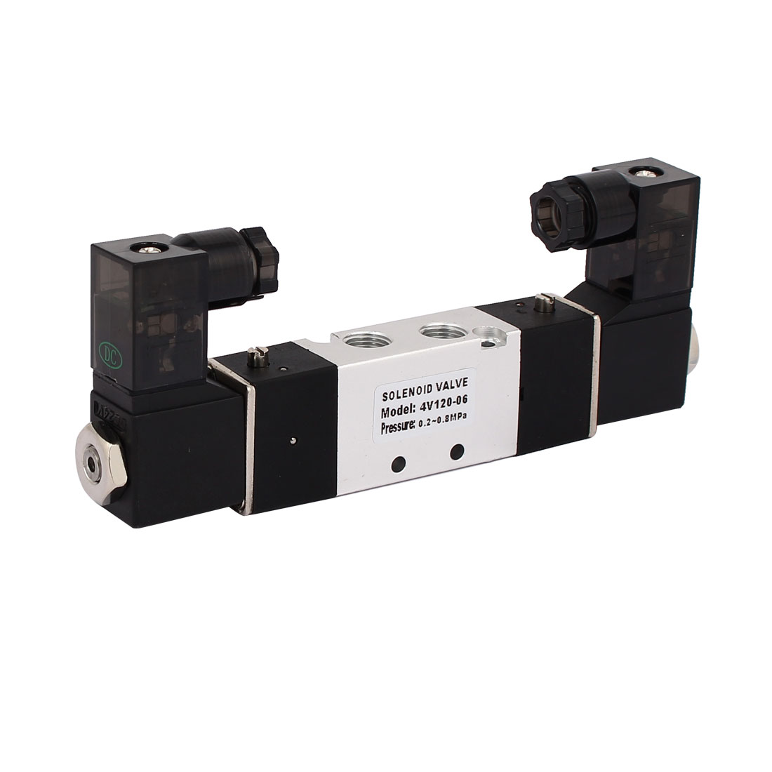DC 24V 2 Position 5 Way Neutral Pneumatic Air Control Solenoid Valve 4V120-06
