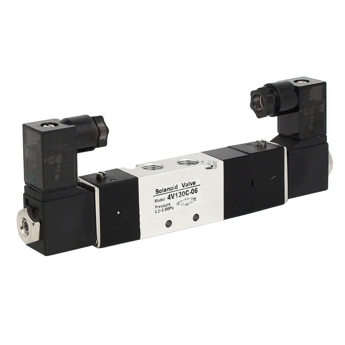DC 12V 3 Position 5 Way Neutral Pneumatic Air Control Solenoid Valve 4V130C-06