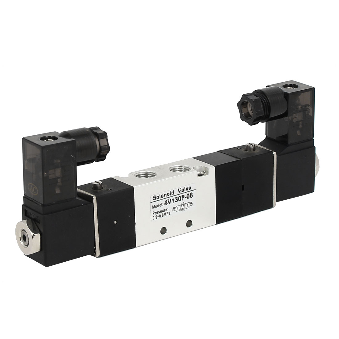 AC 220V 3 Position 5 Way Neutral Pneumatic Air Control Solenoid Valve 4V130P-06