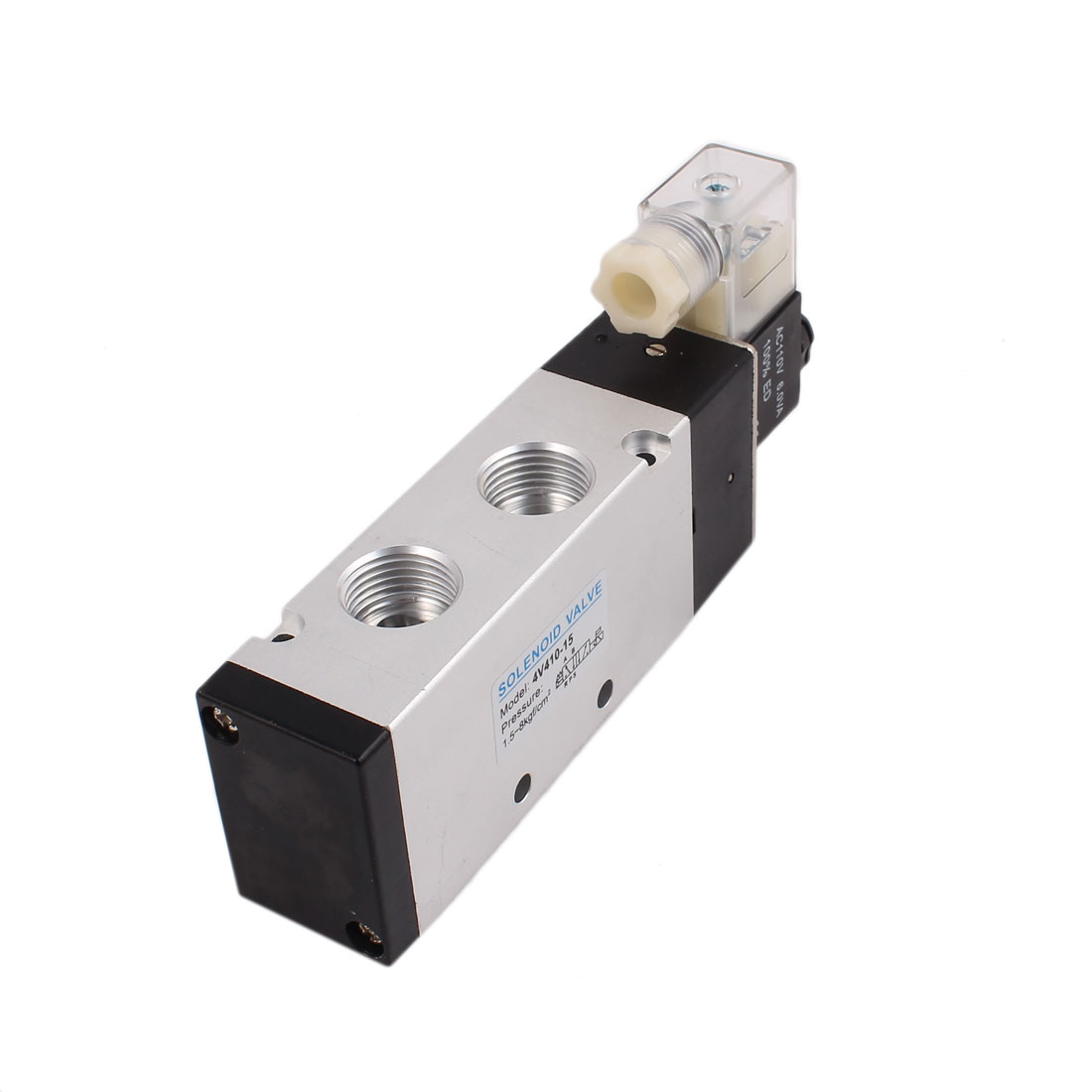 AC 110V 2 Position 5 Way Neutral Electric Pneumatic Solenoid Valve 4V410-15