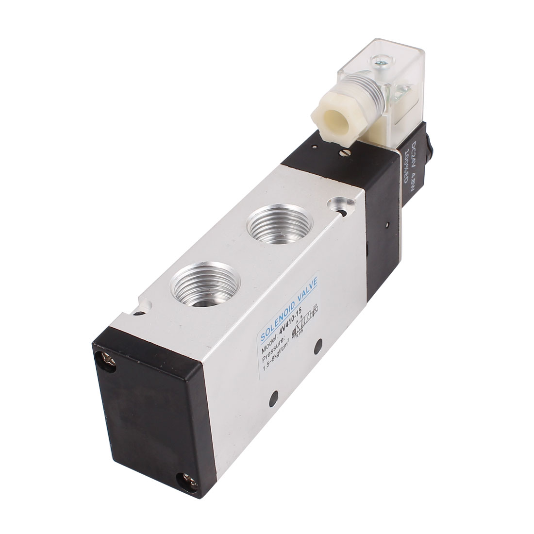 DC 24V 2 Position 5 Way Neutral Electric Pneumatic Solenoid Valve 4V410-15