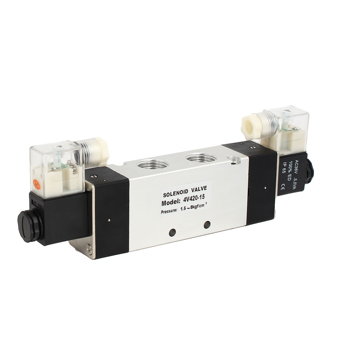 AC 36V 2 Position 5 Way Neutral Pneumatic Air Control Solenoid Valve 4V420-15