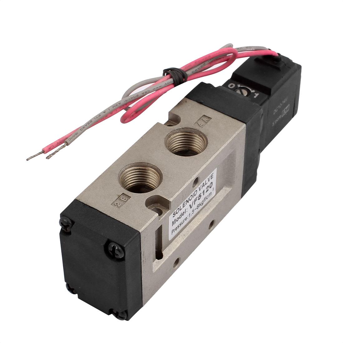 DC 12V 2 Position 5 Way Pneumatic Electromagnetic Solenoid Valve VF5120-6GB