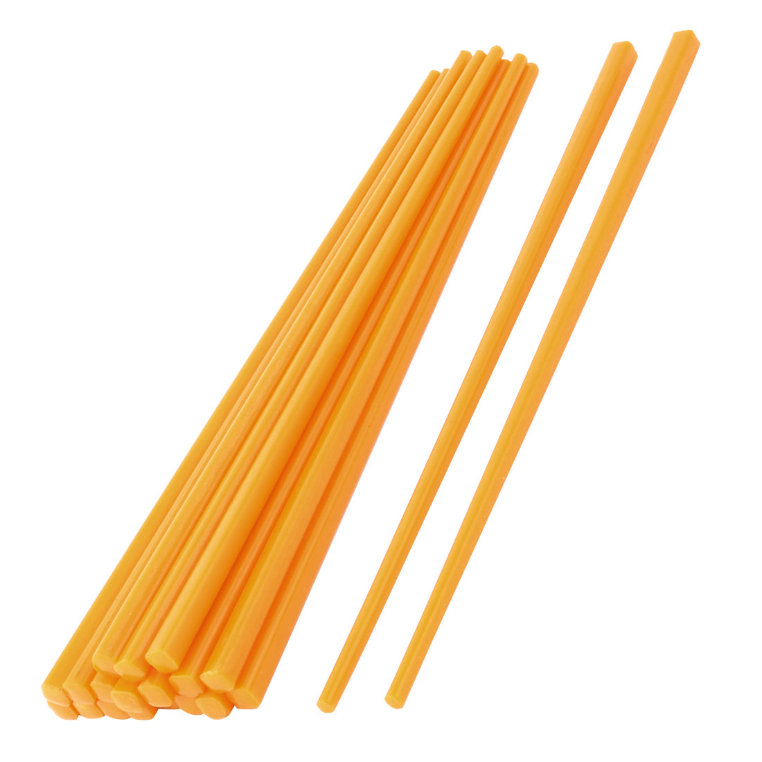 Household Tableware Plastic Chinese Chopsticks Orange 22cm Length 10 Pairs