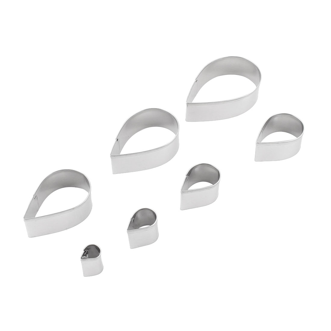 Home Kitchen Stainless Steel Water Droplet Design Cake Cookie Cutter Mold 7 in 1