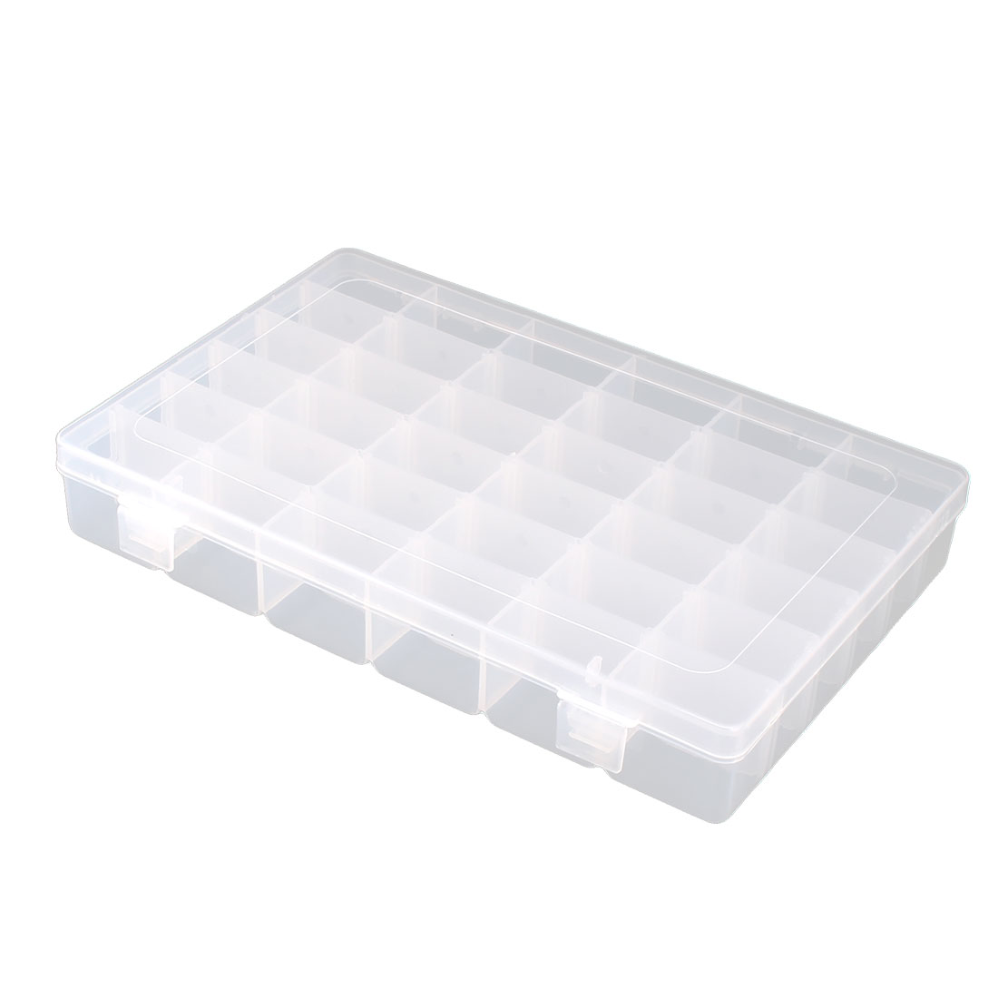 Household Plastic 36 Compartments Jewelry Earring Container Storage Case Clear