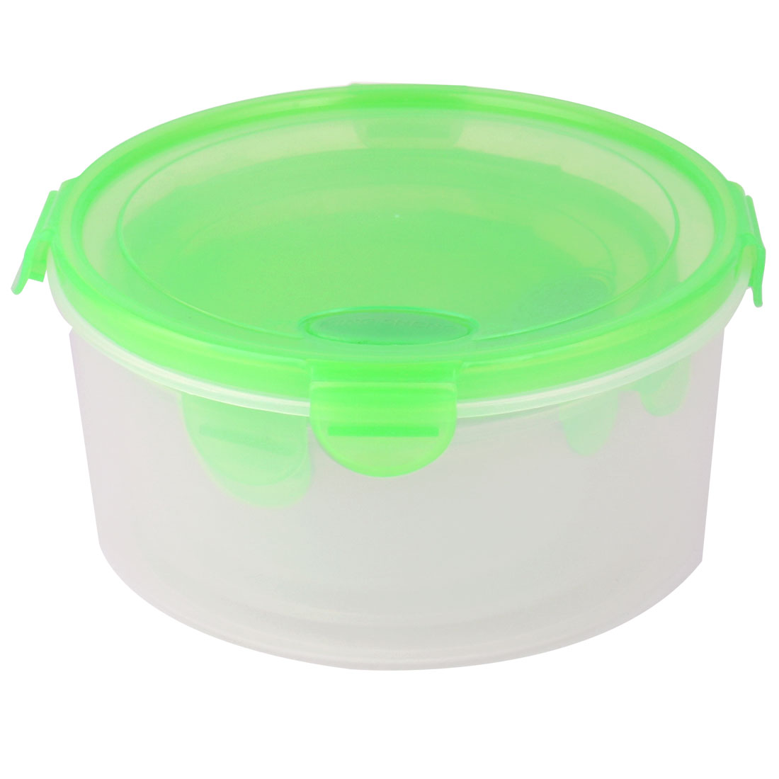 Family PP Cylindrical Airtight Food Snack Storage Container 1300ML 3 in 1 Green