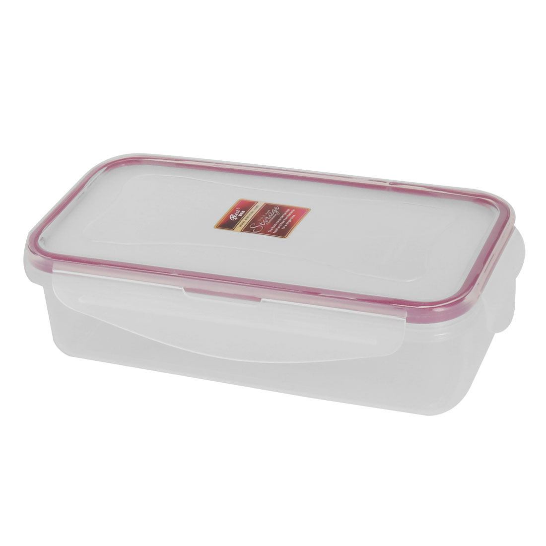 Household Kitchenware PP Rectangle Sealed Food Vegetable Fruit Storage Container 0.45L