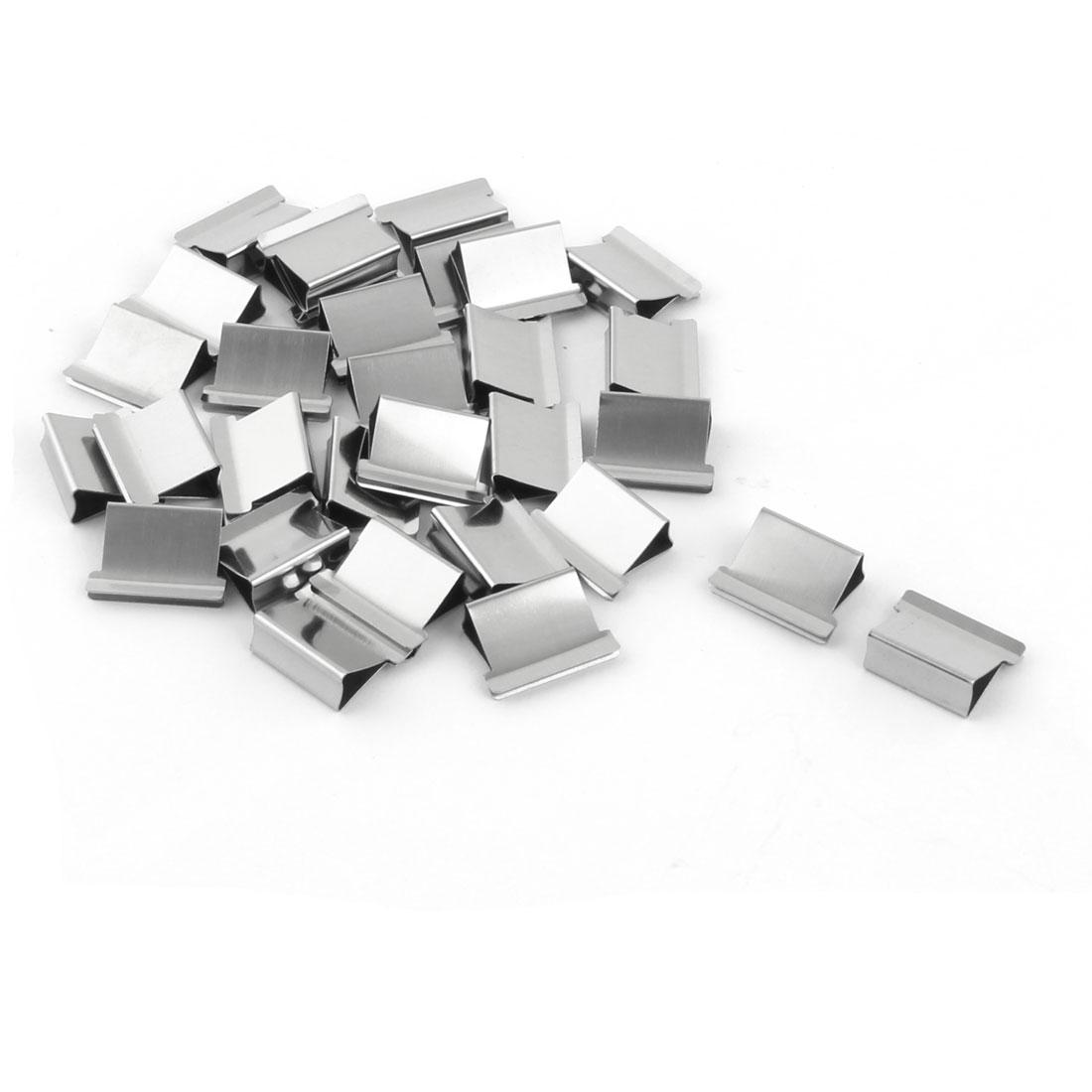 School Office Reusable Fast Clamp Clip Dispenser Refills Silver Tone 30pcs