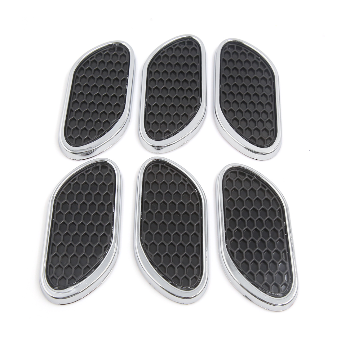 6Pcs Self-adhesive Car Air Flow Vent Fender Side Exterior Decoration Stickers