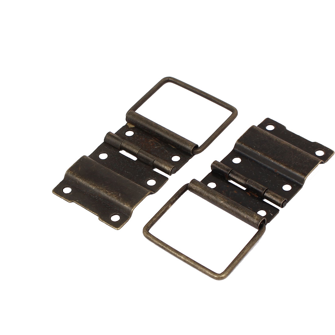 Box Case Retro Style Positioning Support Hinges Bronze Tone 44mmx30mm 2pcs