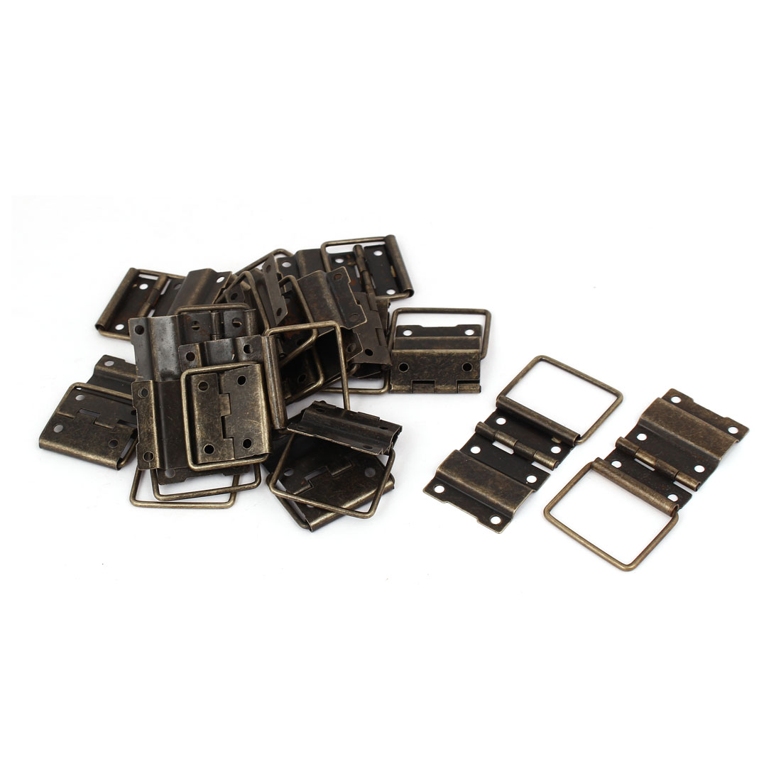 Box Case Retro Style Positioning Support Hinges Bronze Tone 44mmx30mm 20pcs