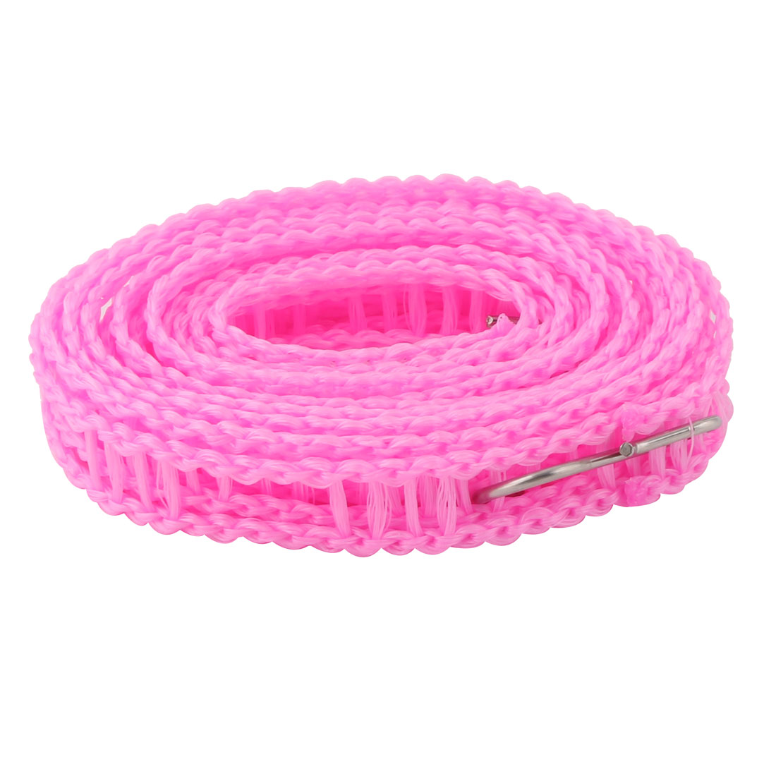 Household Outdoor Nylon Antiskid Windproof Clothesline Clothes Rope Washing Line Pink