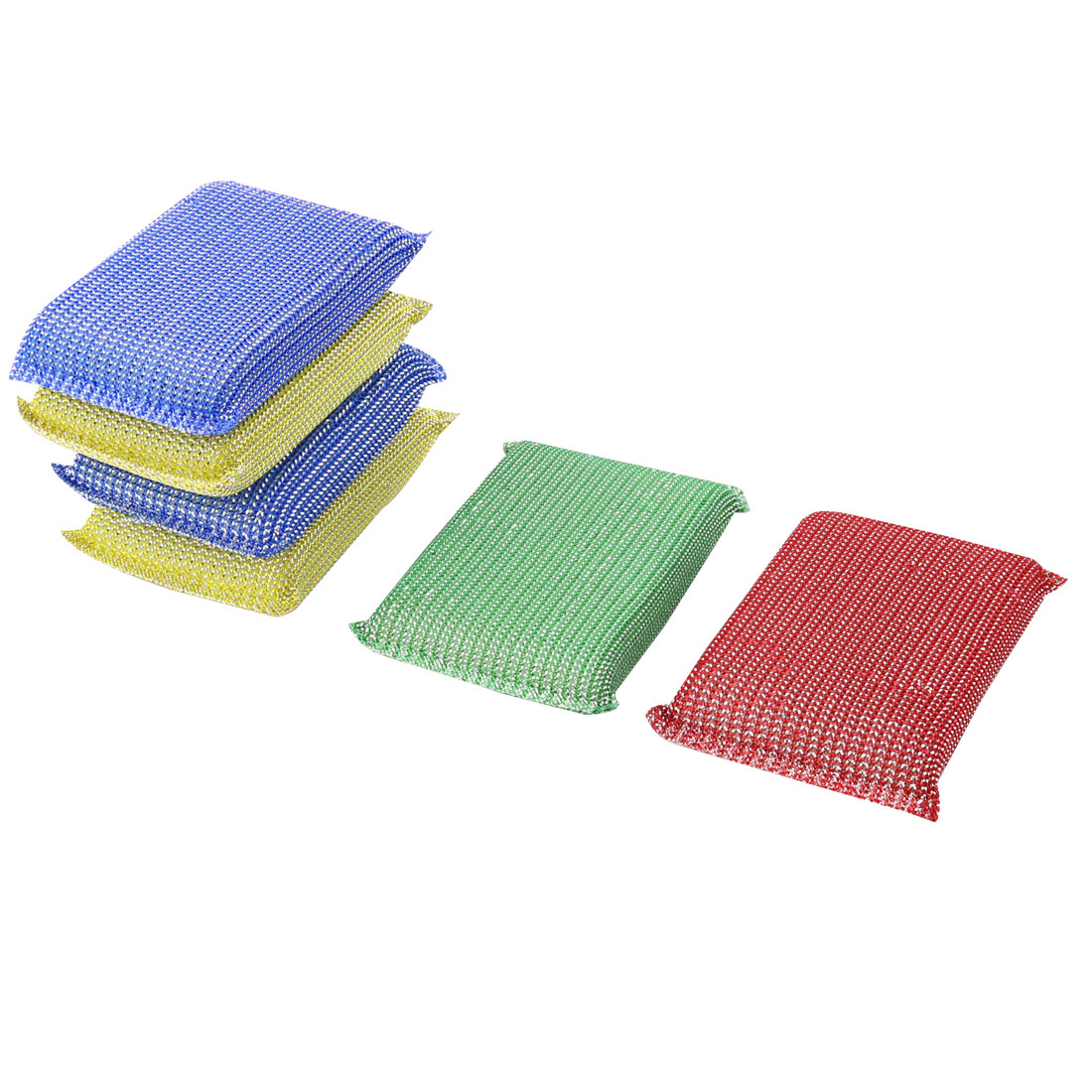Kitchen Bowl Dish Sponge Rectangle Shaped Scrubber Cleaning Cleaner Pads 6pcs
