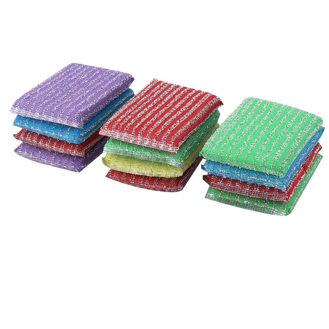Scouring Pads Bowl Dish Wash Scourer Scrubber Cleaning Pads 12pcs
