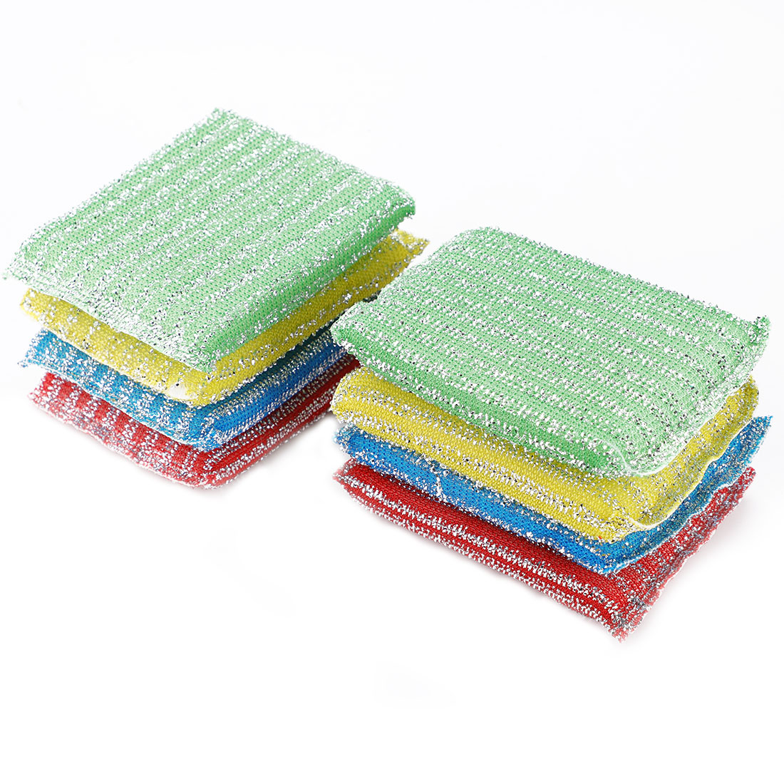Home Kitchenware Bowl Dish Sponge Wash Scourer Scrubber Cleaning Pads 8pcs