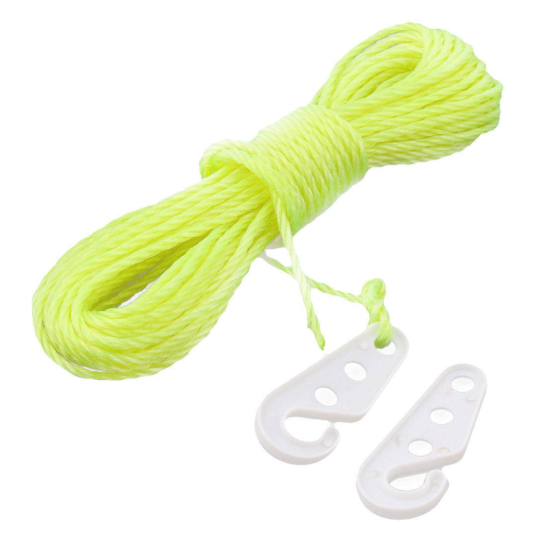 Outside Nylon Windproof Clothesline Clothes Sock Rope Line Fluorescent Yellow