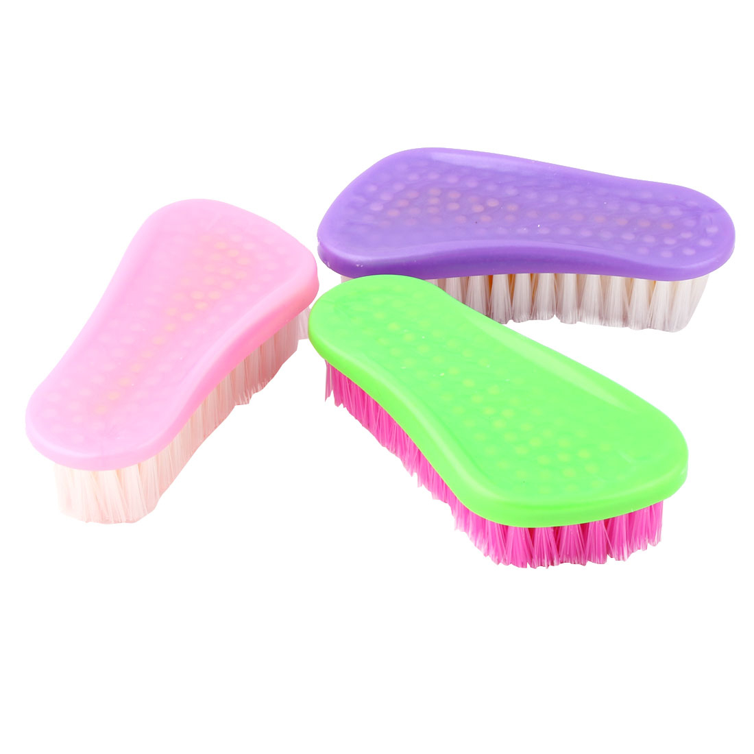 Kitchen Floor Plastic Laundry Clothes Shoes Washing Scrubbing Brush Cleaner 3pcs