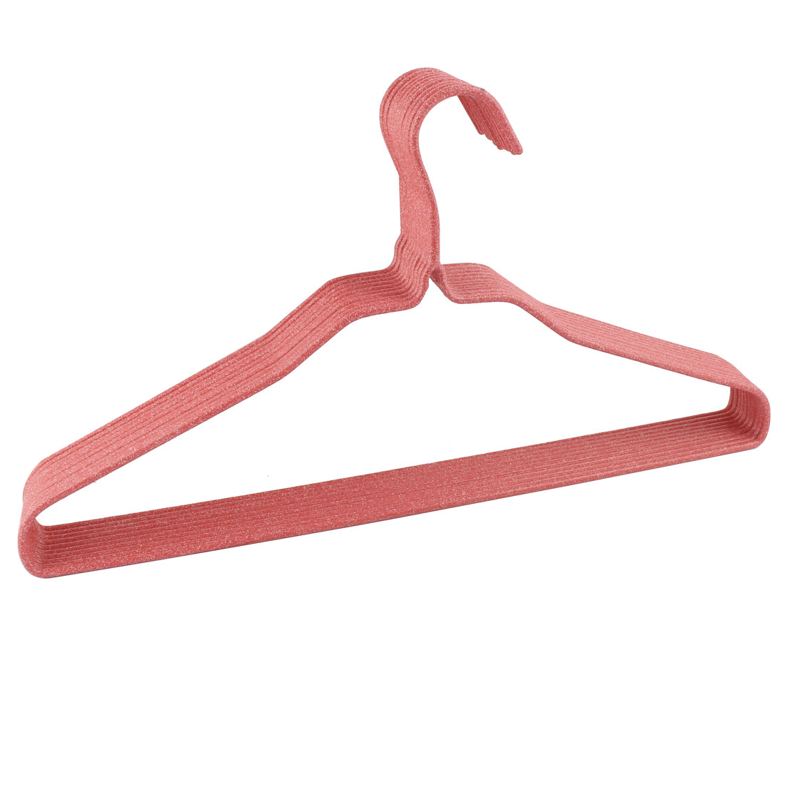 Household Jacket Coat Towel Skirts Pants Blouse Clothes Hanger Red 10 Pcs