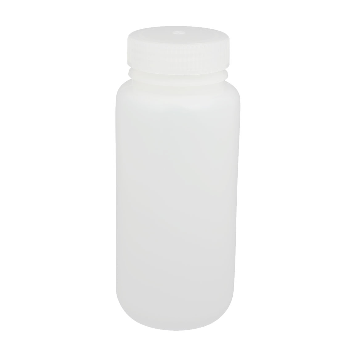 500ml Plastic Round Laboratory Reagent Bottle Sample Thicken Bottle White