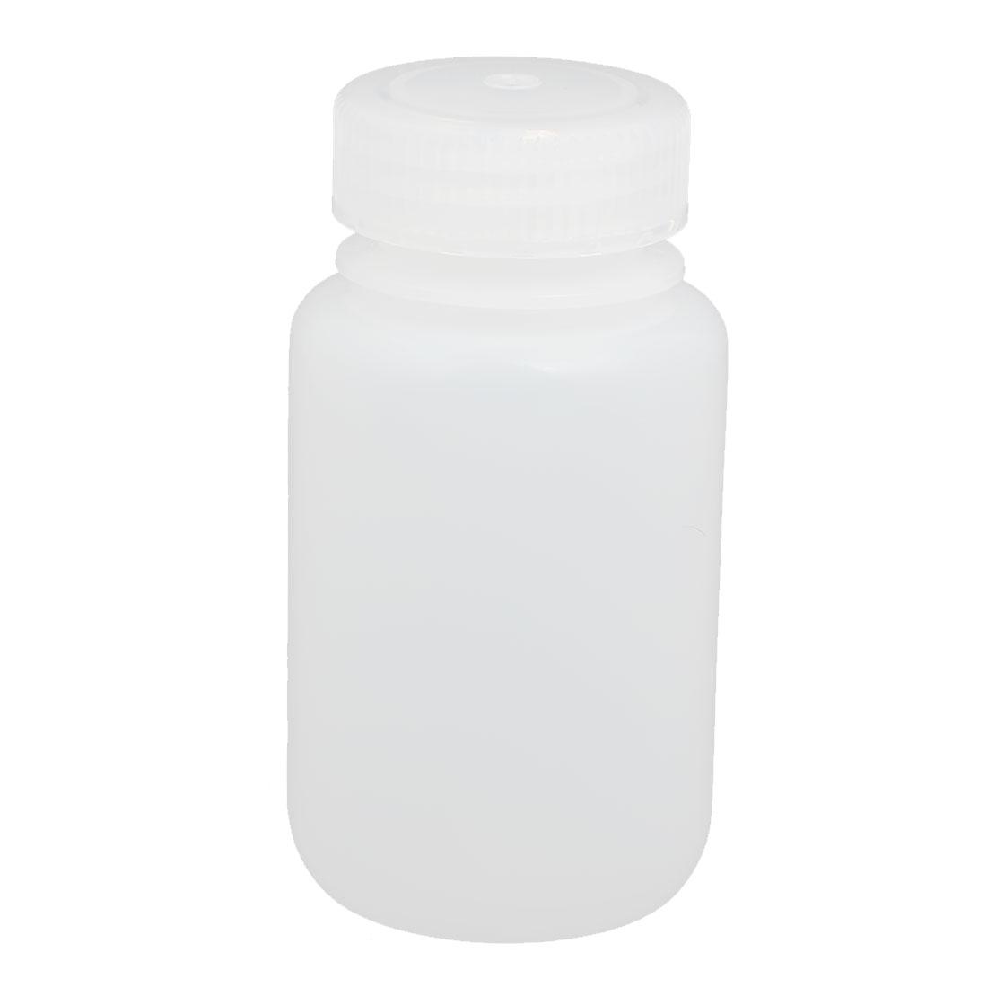 150ml Capacity Plastic Round Lab Reagent Bottle Sample Thicken Bottle White